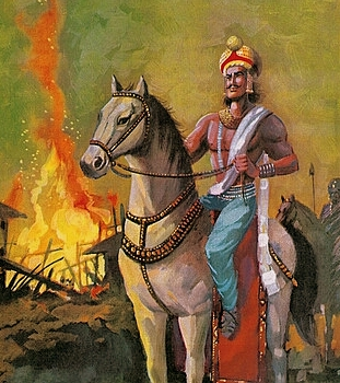 Bindusara, father of a great son and son of a great father.