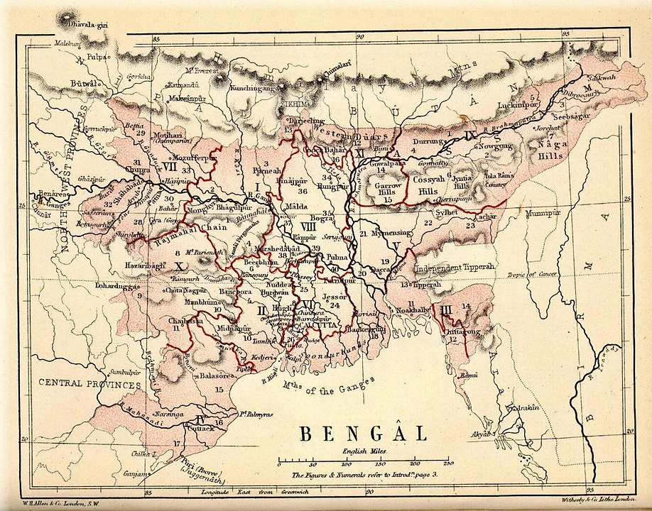 The first Partition of Bengal was a reorganization of territories of the Bengal Presidency. It was implemented in 1905 by the British Raj.