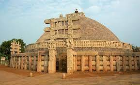 The Great Stupa of Sanchi is situated on top of a hill in a small town called Sanchi, Madhya Pradesh. It is the oldest and largest Stupa.