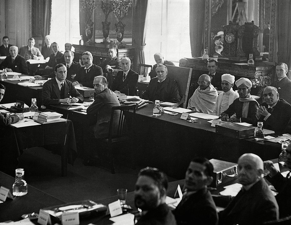 The Second Session opened on September 7, 1931. It was attended by Mahatma Gandhi, B. R. Ambedkar, and other Indian & British representatives.